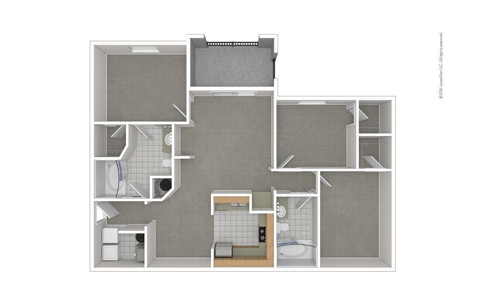 C1 3 bedroom 2 bath 1278 square feet (1)