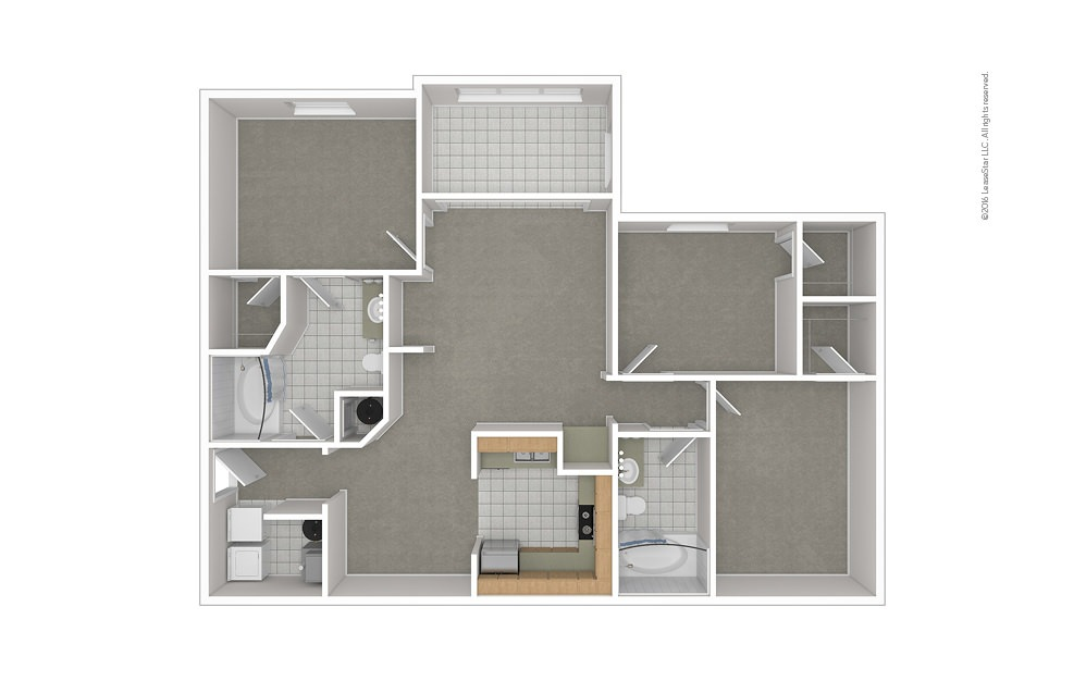 C3 3 bedroom 2 bath 1376 square feet (1)