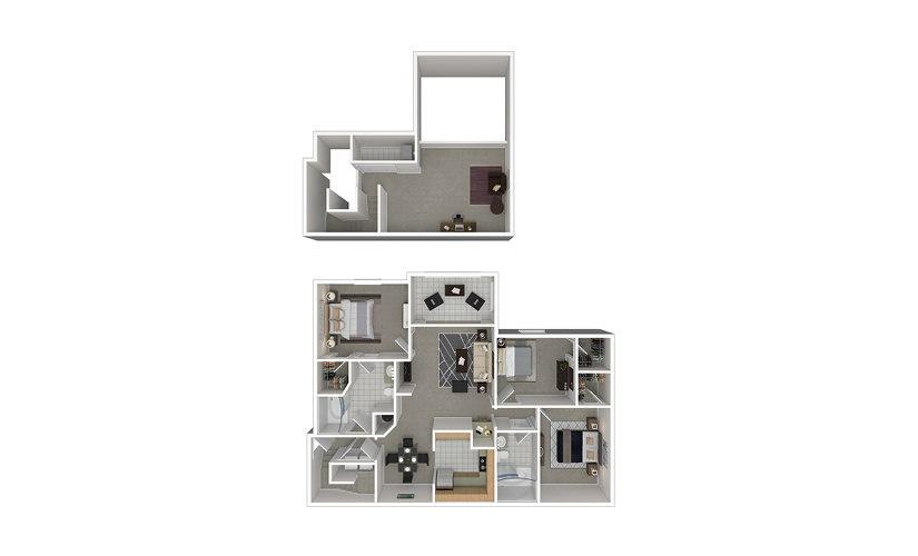 C7 3 bedroom 2 bath 1633 square feet