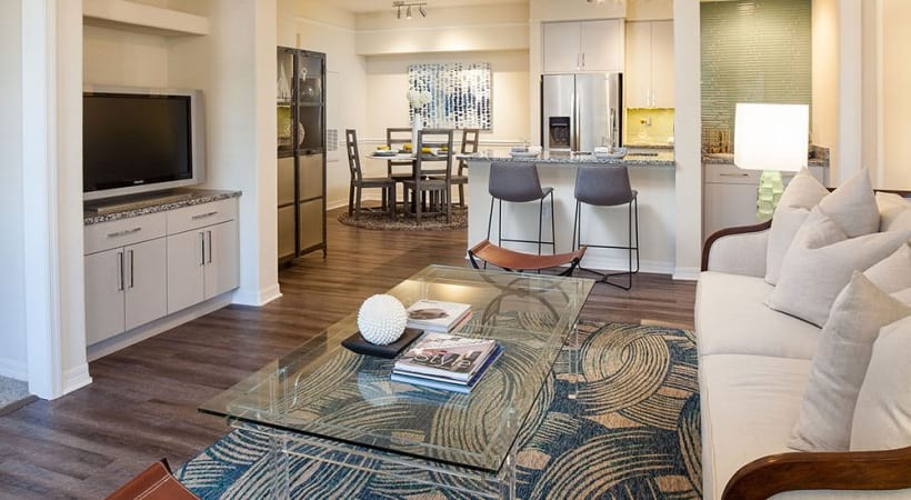 Spacious apartment floor plan at Cortland Portofino Place
