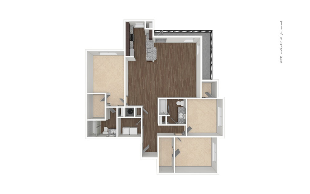 C2 3 bedroom 2 bath 1469 square feet (1)