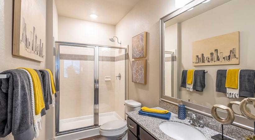 Cinco ranch apartments with walk-in showers