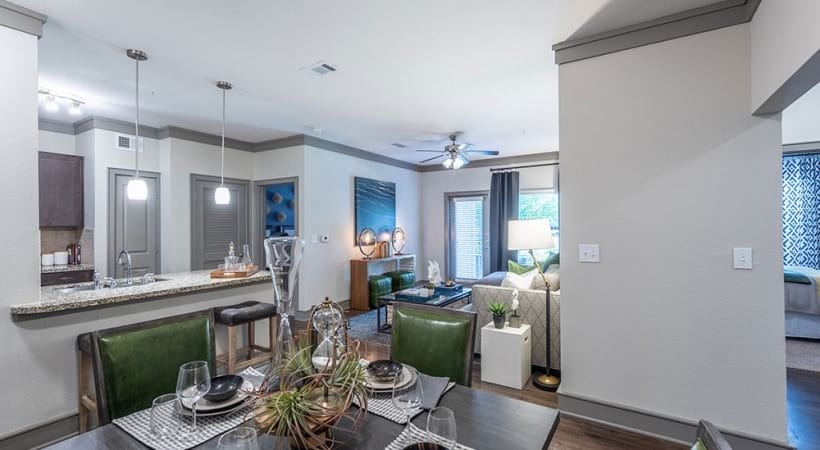 Luxury apartment floor plan at Cortland Seven Meadows