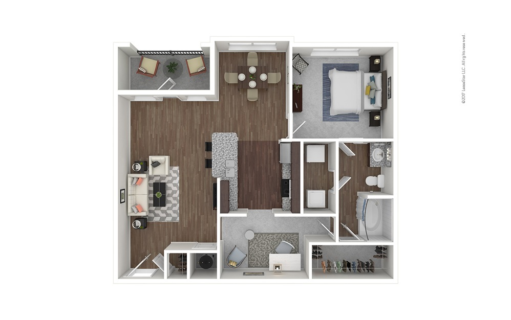 A5 1 bedroom 1 bath 984 square feet