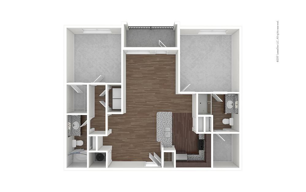 B1 2 bedroom 2 bath 1112 square feet (1)