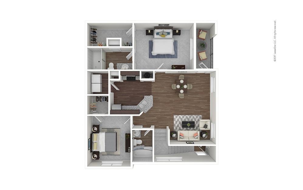 B3b 2 bedroom 2 bath 1151 square feet
