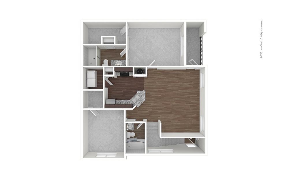 B3b 2 bedroom 2 bath 1151 square feet (1)