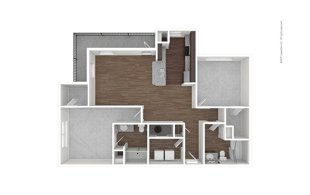 B4 2 bedroom 2 bath 1218 square feet (1)