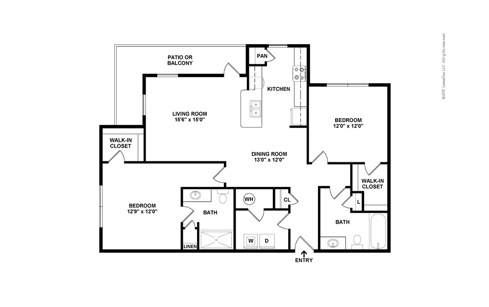 B4 2 bedroom 2 bath 1218 square feet (2)