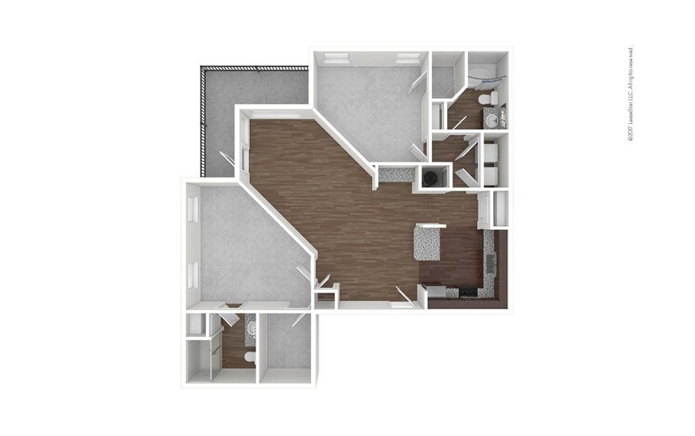 B5 2 bedroom 2 bath 1279 square feet (1)