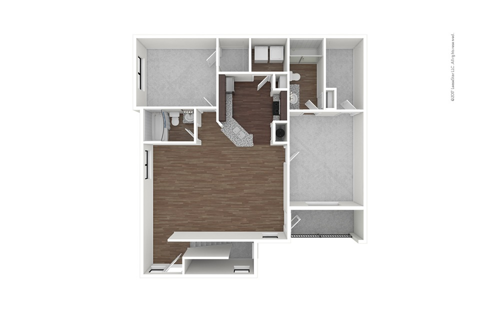 B6b 2 bedroom 2 bath 1282 square feet (1)