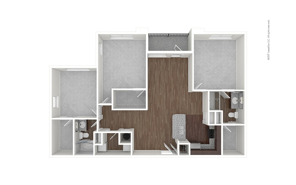 C1 3 bedroom 2 bath 1368 square feet (1)