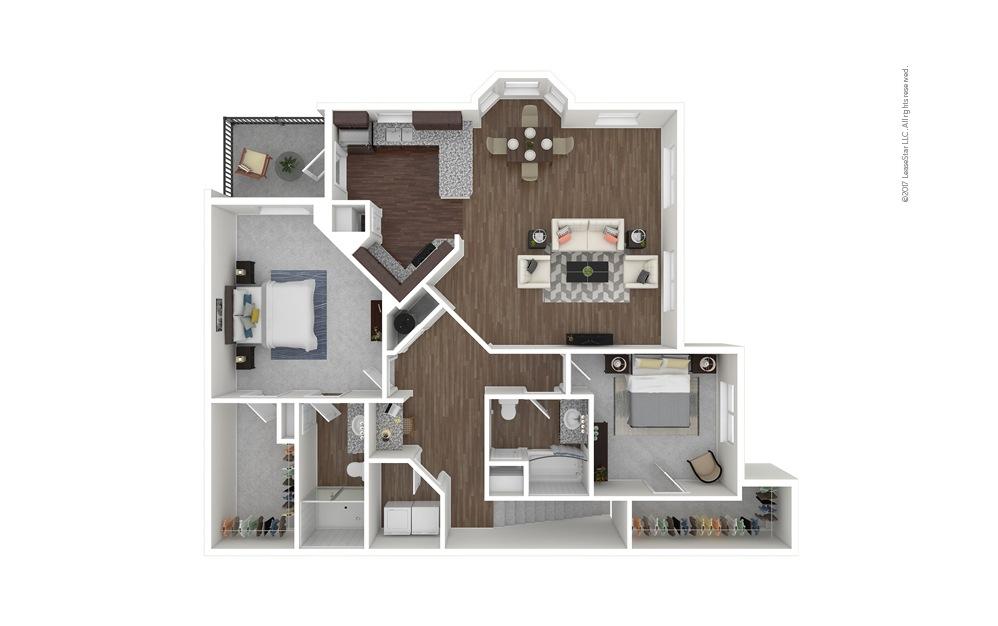 B7b 2 bedroom 2 bath 1457 square feet