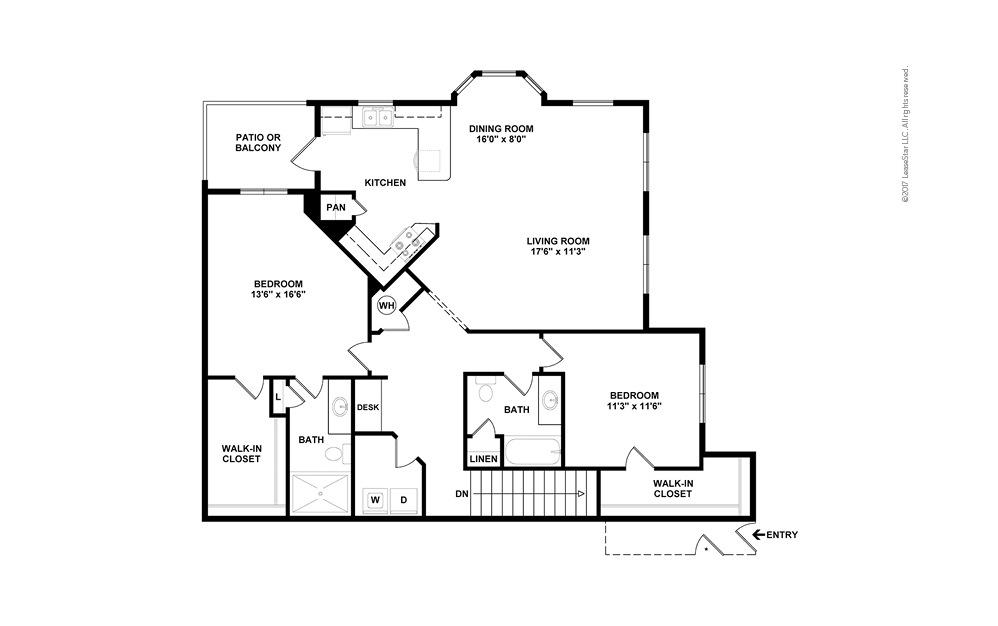 B7b 2 bedroom 2 bath 1457 square feet (2)