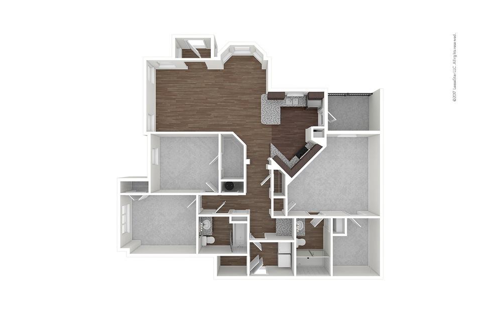 C3 3 bedroom 2 bath 1508 square feet (1)
