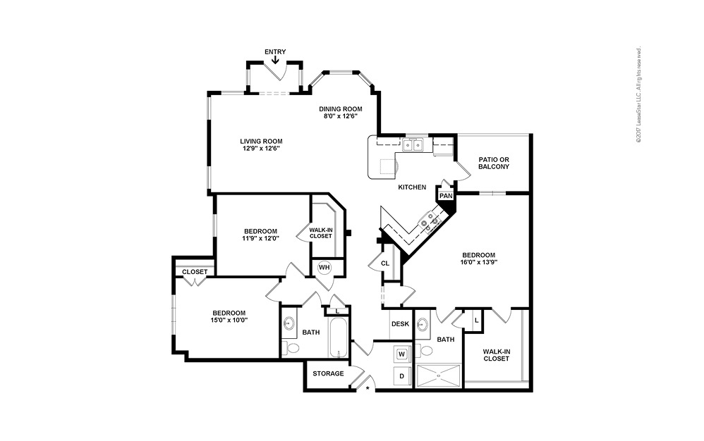 C3 3 bedroom 2 bath 1508 square feet (2)