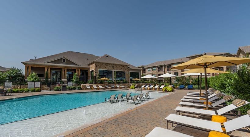 Prosper apartment complex with pool