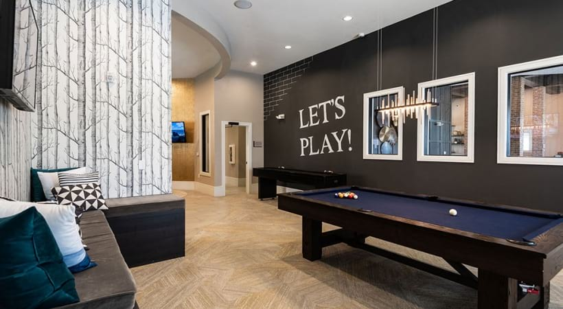 Resident clubhouse at Cortland Preston North in Frisco