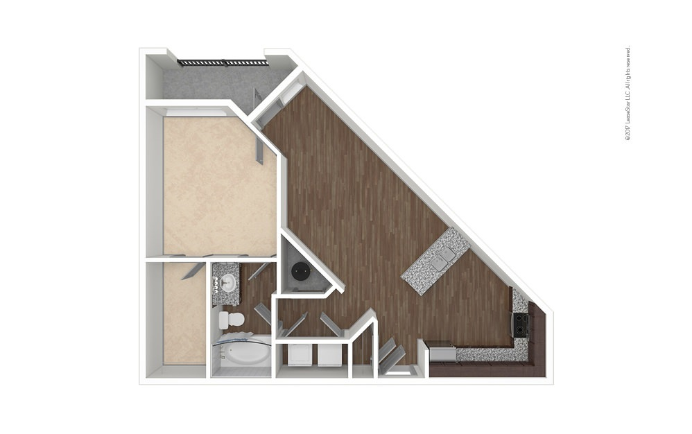 A2 1 bedroom 1 bath 815 square feet (1)