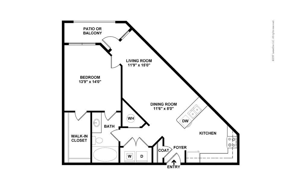 A2 1 bedroom 1 bath 815 square feet (2)