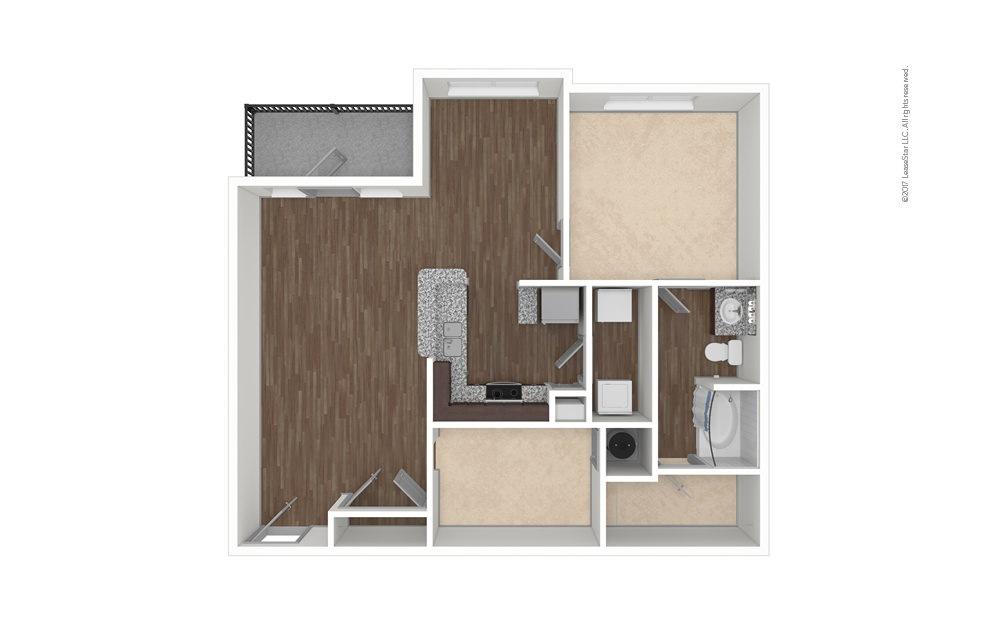 A3 1 bedroom 1 bath 984 square feet (1)