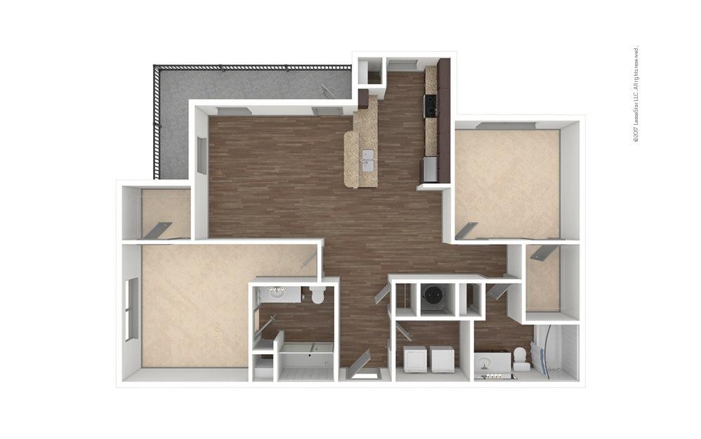 B2 2 bedroom 2 bath 1218 - 1406 square feet (1)