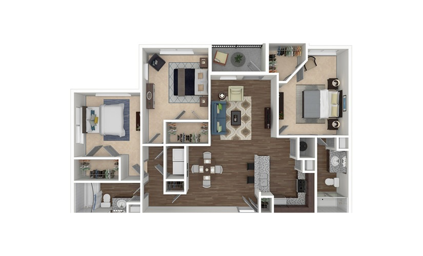 C1, C3, & C4 3 bedroom 2 bath 1368 - 1597 square feet