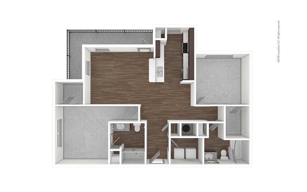 B2 2 bedroom 2 bath 1218 square feet (1)