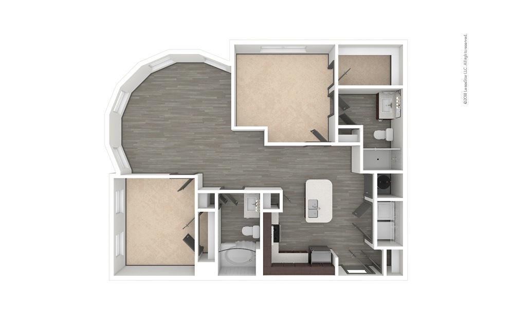 B4 2 bedroom 2 bath 1124 square feet (1)