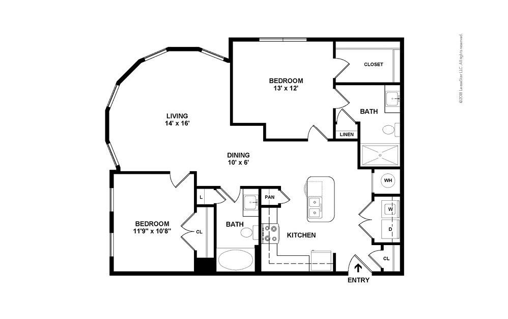 B4 2 bedroom 2 bath 1124 square feet (2)