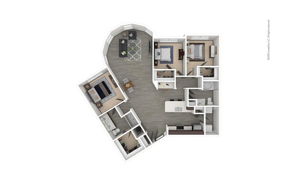 C7 3 bedroom 2 bath 1540 square feet