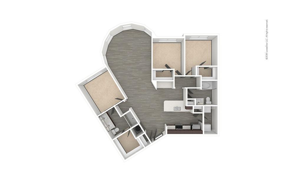C7 3 bedroom 2 bath 1540 square feet (1)