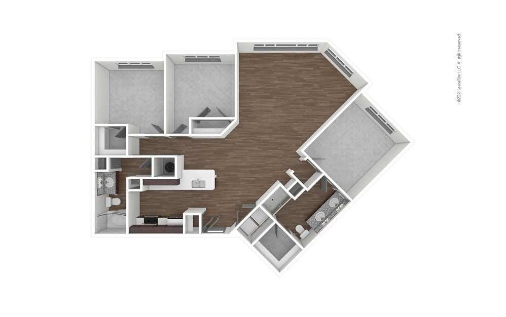 C4 3 bedroom 2 bath 1497 square feet (1)