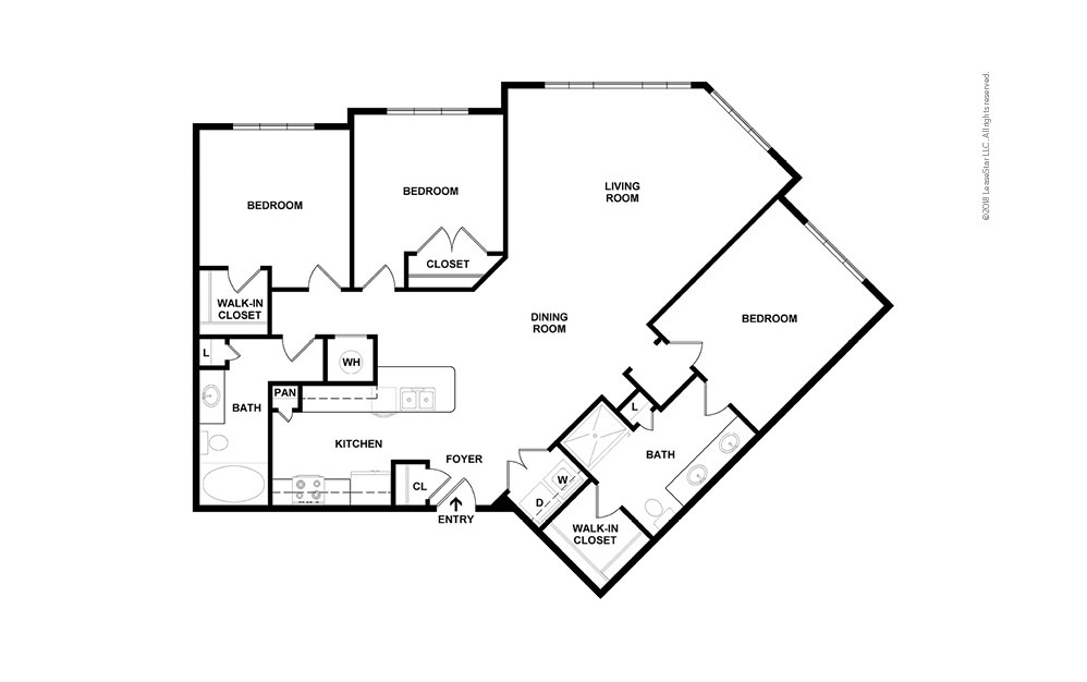 C4 3 bedroom 2 bath 1497 square feet (2)