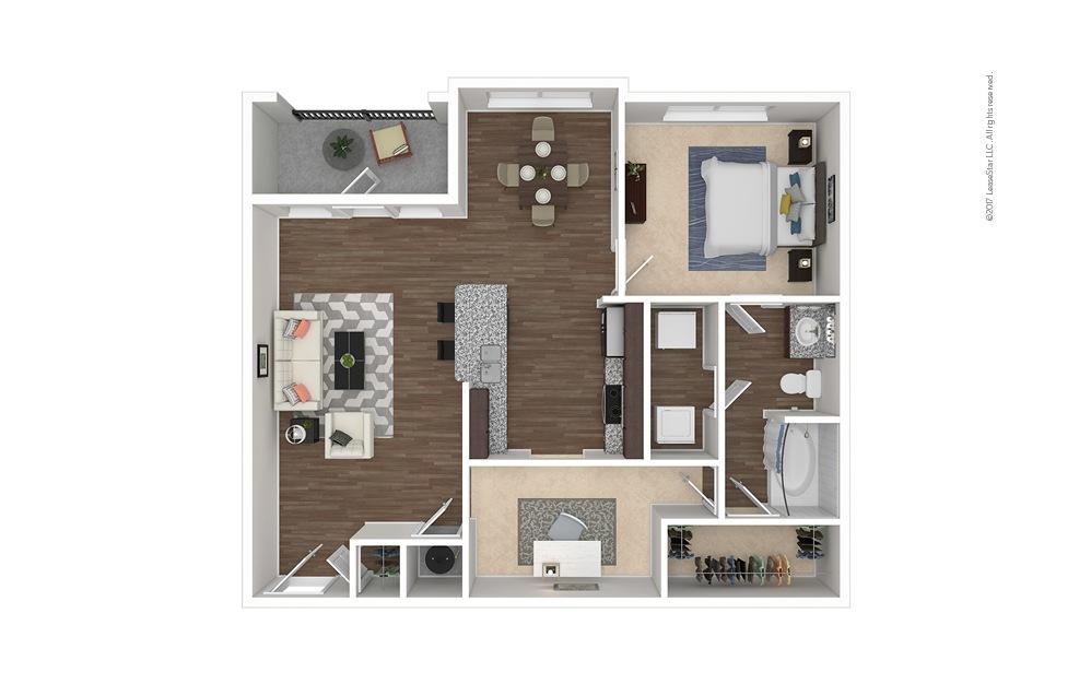 A4 1 bedroom 1 bath 984 square feet