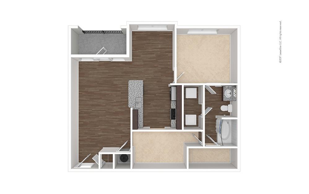 A4 1 bedroom 1 bath 984 square feet (1)