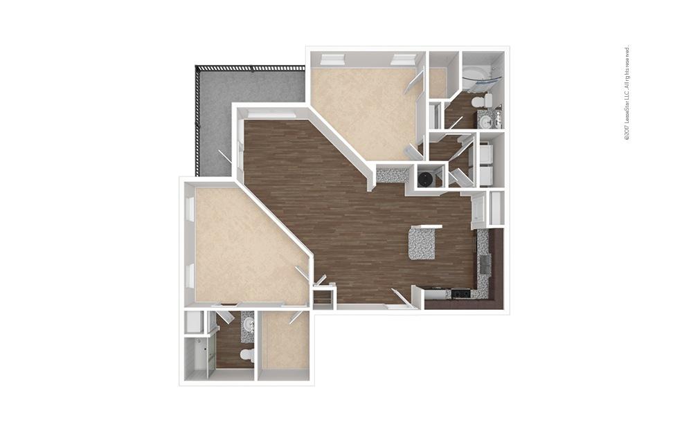 B4 2 bedroom 2 bath 1279 square feet (1)