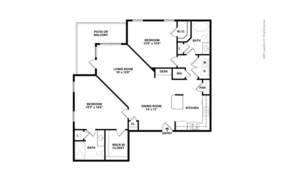 B4 2 bedroom 2 bath 1279 square feet (2)
