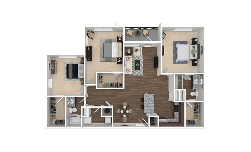 C2 available one two and three bedroom apartments in - 3 bedroom apartments in fort worth ...