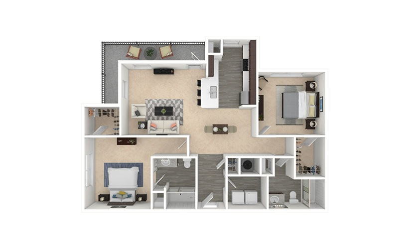 Altbier 2 bedroom 2 bath 1218 square feet