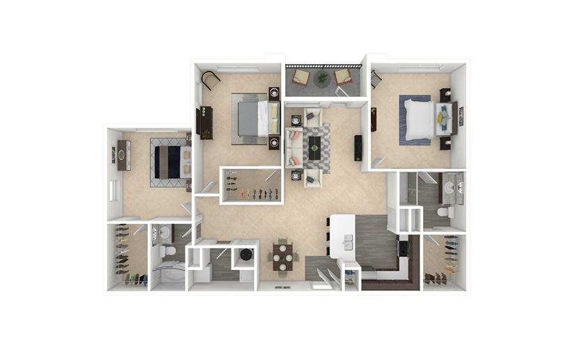 Rye 3 bedroom 2 bath 1368 square feet