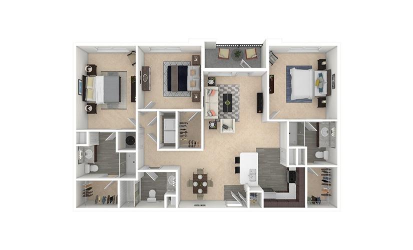 Cask 3 bedroom 3 bath 1409 square feet