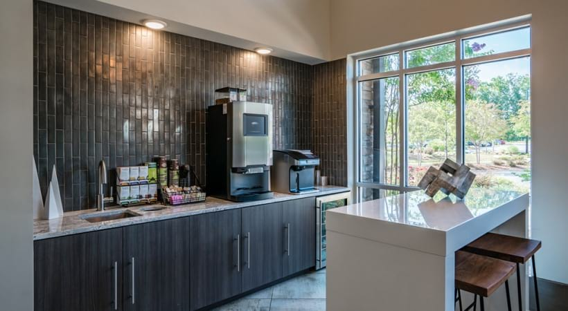 Coffee bar at our upscale apartments in Raleigh, NC