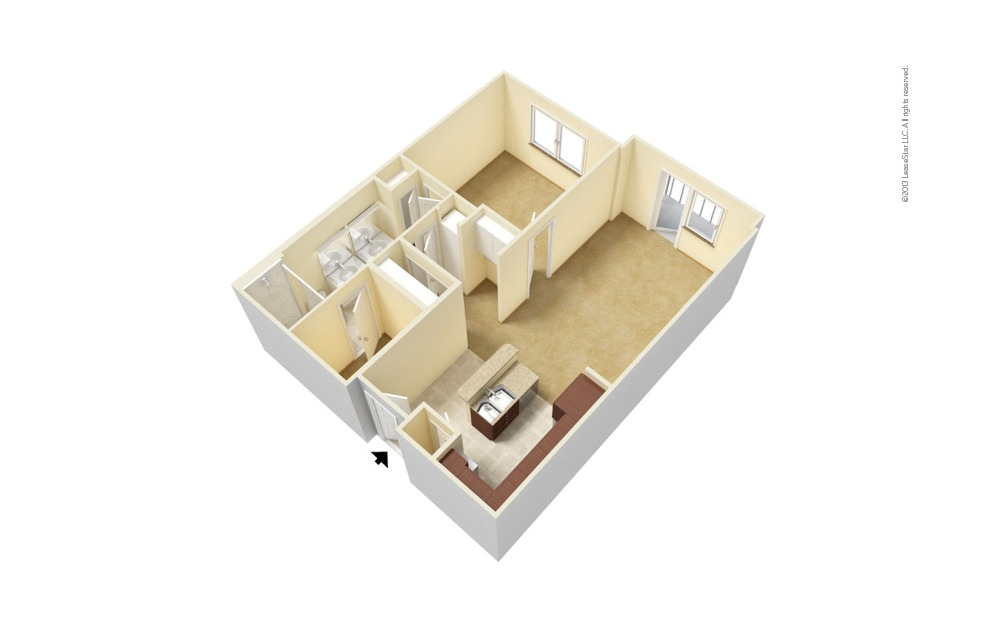 A3 1 bedroom 1 bath 735 - 753 square feet (1)
