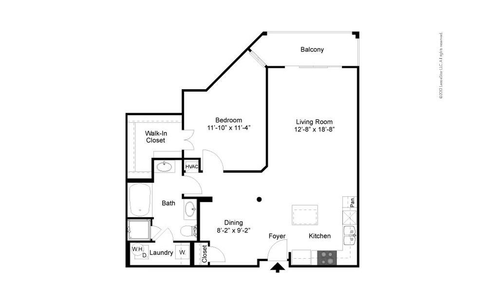 The Parkview 1 bedroom 1 bath 908 square feet (2)