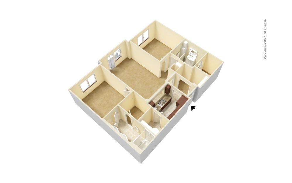 B2 2 bedroom 2 bath 1141 - 1159 square feet (1)