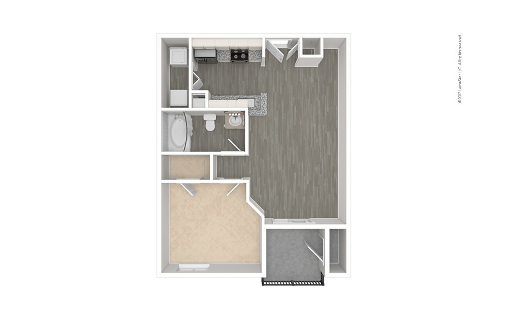 The Allen 1 bedroom 1 bath 565 square feet (1)