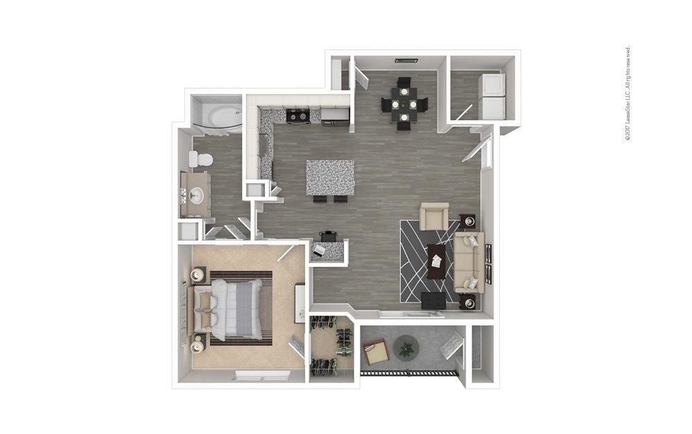 The Deep Ellum 1 bedroom 1 bath 760 - 795 square feet