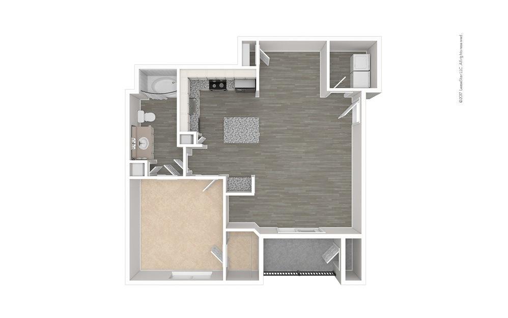 The Deep Ellum 1 bedroom 1 bath 760 - 795 square feet (1)