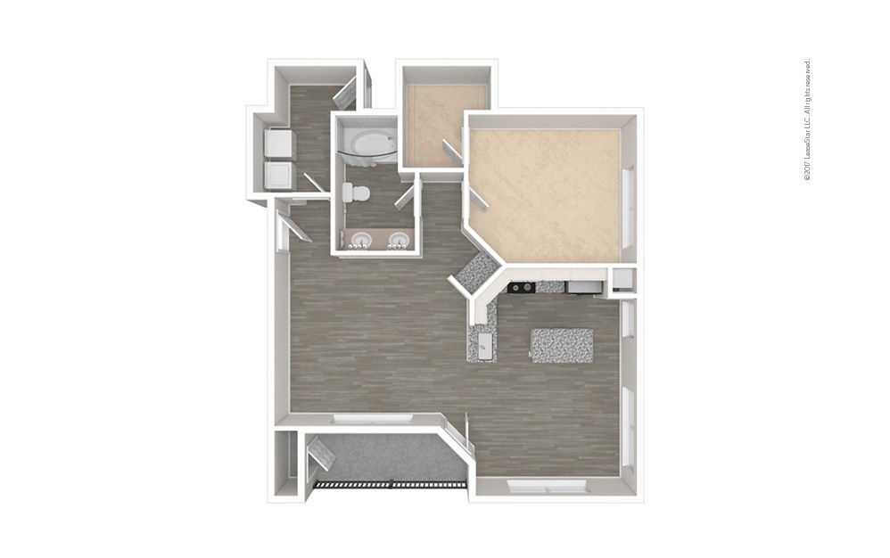 The Henderson 1 bedroom 1 bath 855 square feet (1)